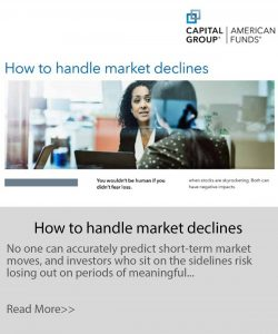 handle pandemic market declines