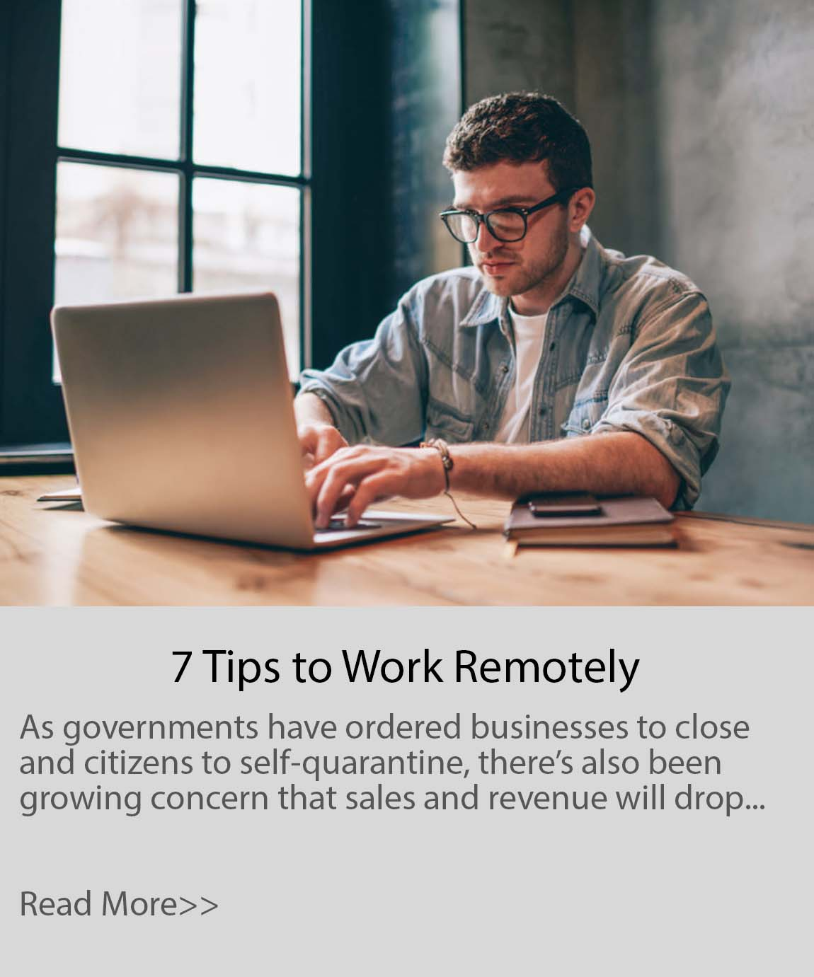 7 Tips Working Remotely