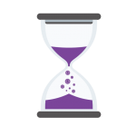 money falling from hourglass icon