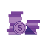 coins stacked icon