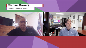michael bowers of sbdc columbus talks to phil ratcliff of rebel financial
