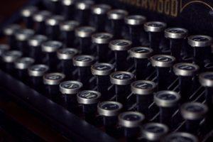 close up of a typewriter keyboard