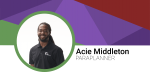 Acie Middleton Paraplanner header image