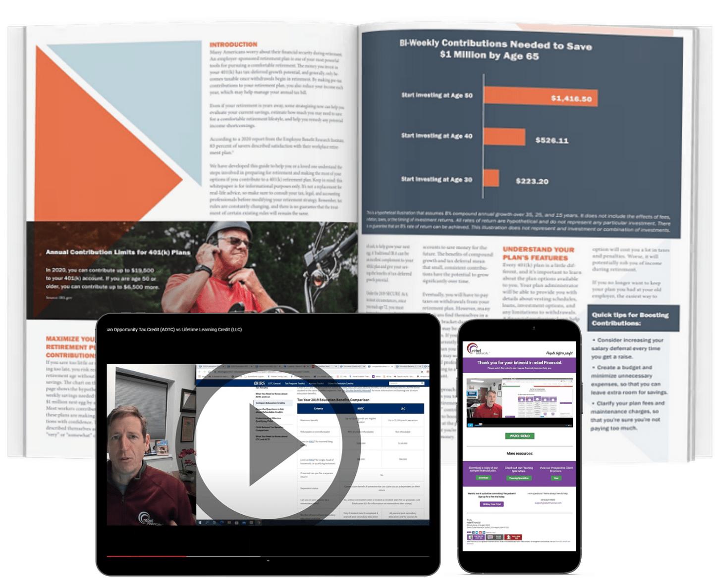 ebook, webinar, email