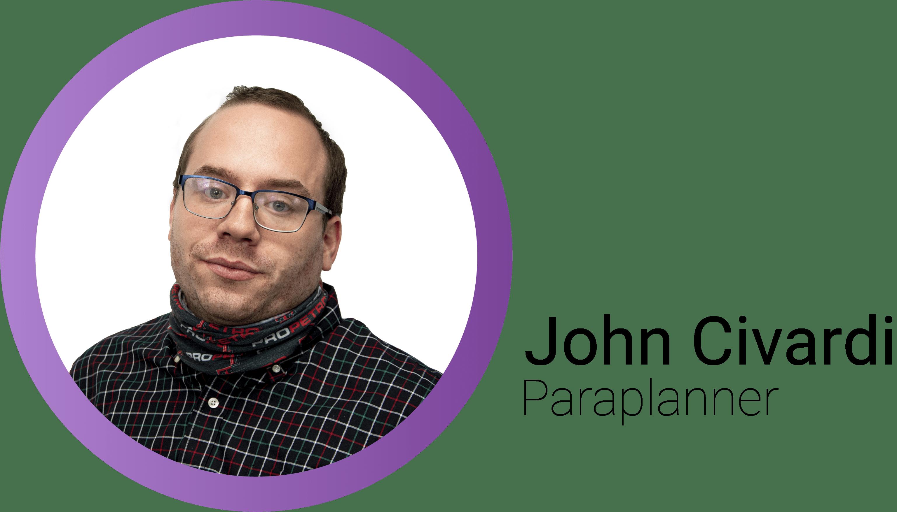 John Civardi Mobile Header