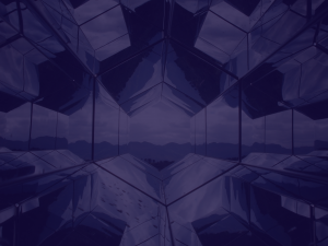 Futuristic mirroring windows creating a vision into the future