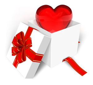 A-gift-of-heart-with-a-ribbon